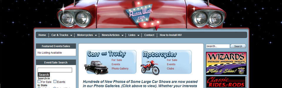 Large custom Joomla site for automotive news/info.