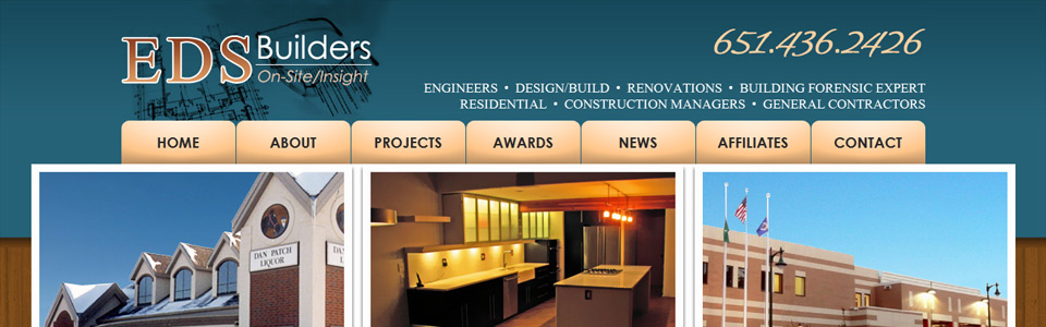 Custom made building contractor site.