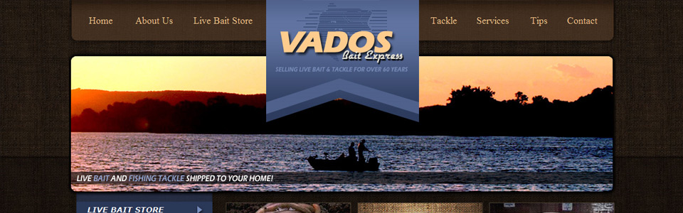 Fishing gear & bait site running Magento e-Commerce.